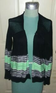 Fox Womens Black - Green Size XS Upbeat Cardigan Long Sleeve