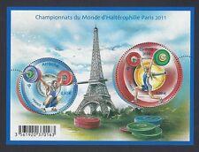 2011 Bloc n° F4598 HALTEROPHILIE Championnat du Monde- NEUF**LUXE
