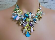 AUTHENTIC J CREW JEWELED CRYSTAL STATEMENT NECKLACE NWT #E3549