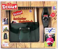SCOUT Entdecker-Set: Neopren-Gürteltasche mit Signalpfeife, Stift und Notizblock