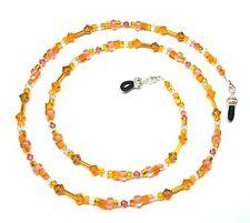 Topaz & Sun Swarovski Orange Bead Mix Eyeglass Chain