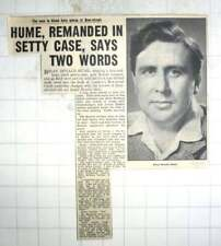 1950 Brian Donald Hume Charged With Murder Of Car Dealer Stanley Setty