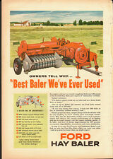 1957 Vintage ad for FORD Hay Baler`Red`Field, Farm Scene