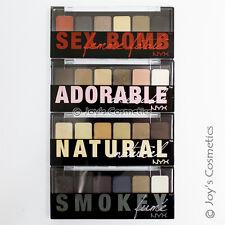"""4 NYX The Eye Shadow Palette Full Set """" TNS+TSS+TAS+TSB"""" *Joy's cosmetics*"""