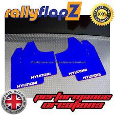 ANTIBECCHEGGIO per adattarsi HYUNDAI GETZ RallyflapZ Parafanghi in blu (logo Bianco) 3mm PVC