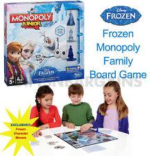 SALE! HASBRO MONOPOLY JUNIOR DISNEY FROZEN BOARD GAME EDITION ELSA ANNA MOVERS