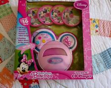 "Disney Minnie Mouse Bow-Tique ""Sing with Me"" CD Player Plays 16 Songs Brand New!"