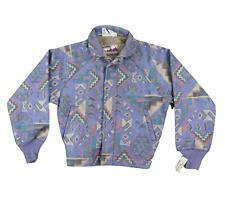 NOS Vintage 90s Walls Mountain Navajo Print Bomber Jacket Abstract Mens Medium