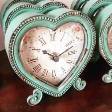 Shabby Chic Duck Egg Ornate Boudoir Heart Shaped Desk, Mantel, Carriage Clock