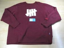 UNDEFEATED UNDFTD 5 STRIKES CREWNECK SWEATER BURGUNDY WHITE XXL PLAY DIRTY
