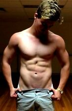 Shirtless Male Muscular Hunk Chiseled Bod Handsome Beefcake PHOTO 4X6 F27