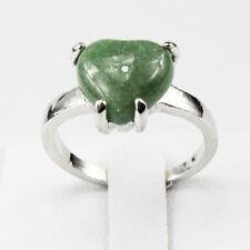 Green Aventurine Gemstone  Jewelry 925 Silver Plated Men Women Ring Size 8