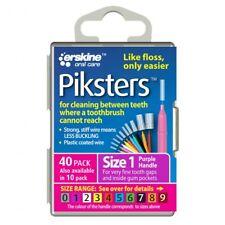 ツ PIKSTERS INTERDENTAL BRUSH SIZE 1 PACK OF 40 REUSABLE FLOSS ALTERNATIVE PURPLE