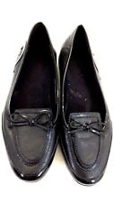 ETIENNE AIGNER WOMENS BLACK LEATHER LOAFERS SHOES SIZE 8M