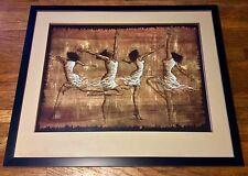 "FRAMED AFRICAN AMERICAN ART PRINT ""Rejoice"" by Monica Stewart 36 X 30"
