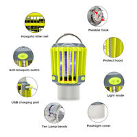 Electric USB Fly Zapper Mosquito Killer Bug Insect Pest LED Lamp Trap Control