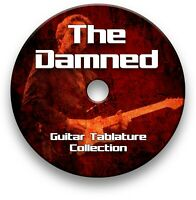 THE DAMNED ROCK GUITAR TAB TABLATURE SONG BOOK ANTHOLOGY SOFTWARE CD