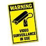 Warning Video Surveillance Sticker Decal Safety Sign Car Vinyl #6454ST