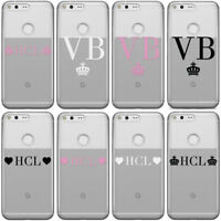 PERSONALISED INITIALS CUSTOM CLEAR SEE THROUGH PHONE CASE COVER FOR GOOGLE