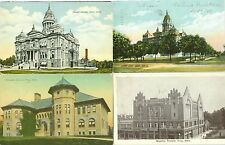 Troy OH The Edwards School, The Masonic Temple, and County Court House ( 2 )