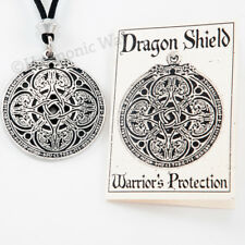 RUNE DRAGON Pendant amulet Necklace RUNIC SHIELD Celtic Knotwork Protective
