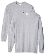 Men's Heavy Cotton Long Sleeve T-Shirt, Style G5400, 2-Pack Large Sport Grey
