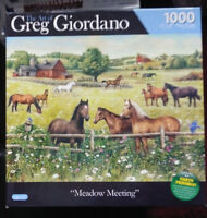 "Greg Giordano ""Meadow Meeting""  1000 Piece Puzzle Sealed NIB - FREE SHIPPING"