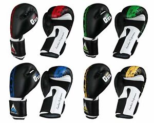 Aamron® Leather Boxing Gloves Training Muay Thai Fight Punch Bag Sparring BGLA2C