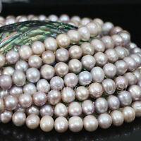 "Genuine Natural 7-8mm purple Akoya Freshwater Pearl Loose Beads Strand 15""AAA++"