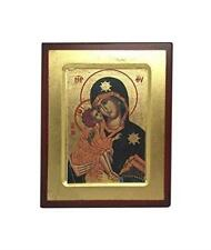 More details for virgin mary and baby jesus icon style religious wall plaque decor