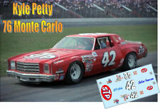 CD_3624-C #42 Kyle Petty  1976 STP Chevy MonteCarlo   1:64 scale DECALS