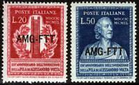 AMG-FTT - 1949 - Volta - serie completa nuova MNH - Sassone nn.52/53
