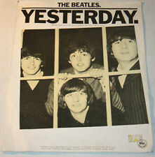 THE BEATLES Yesterday VG+ Condition 1970s Music Sheet