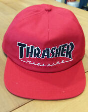 THRASHER OUTLINED SNAPBACK CAPPELLINO VISIERA RED 39d3f3691b98