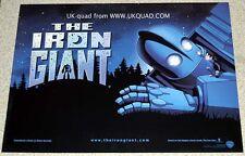 IRON GIANT POSTER ORIGINAL 1999 CINEMA ISSUED UK  MINI QUAD MINT 16X12 in 40x30c