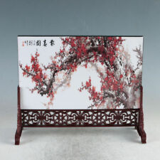 Chinese Lacquerware Handwork Plum Blossom Screen PF6013