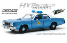 GREENLIGHT 1:24 1975 PLYMOUTH FURY ARKANSAS STATE POLICE DIE-CAST BLUE 84102