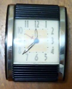 Vintage Westclox Travel Alarm Clock, Closing Face Cover