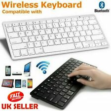 Nuevo Slim Teclado inalámbrico Bluetooth para iMac Ipad Android Teléfono Tableta UK