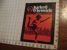 VINTAGE hacky sack paper: KICKER'S CHRONICLE fall 82, 8pages