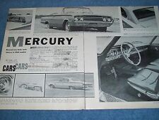 1964 Mercuy New Cars Vintage Info Article Park Lane Monterey Montclair