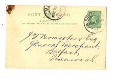 Transvaal  1905 intero postale  viaggiato - vedi foto.....