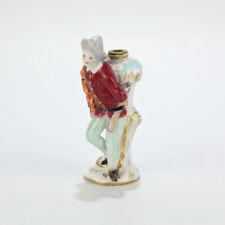 Antique 19th Century Figural Meissen Porcelain Perfume Bottle - Jester PC