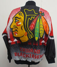 CHICAGO BLACKHAWKS LARGE JACKET LIGHT WEIGHT NHL HOCKEY MENS NEW VINTAGE LOOK