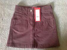 BNWT - ESPRIT girls brown a-line cotton skirt (size 7) RRP $49.95 - 50% off