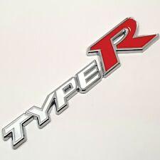 1x 3D Metal Type R typer Car Emblem Decal Badge Sticker Boot Self Adhesive Boot