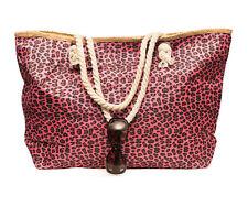 XXL Damentasche Strandtasche Sommer Tasche Badetasche Tierfell Leo Strand Pink