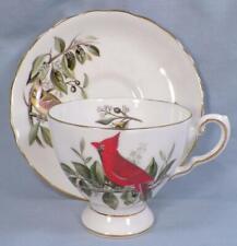 Audubon Birds Cup & Saucer Cardinal Royal Tuscan Fine China D2143 Vintage