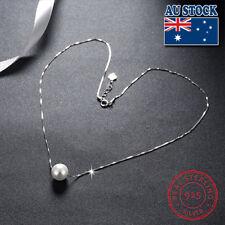 Wholesale 925 Sterling Silver Shell White Cream Pearl Pendant Bride Necklace