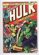 Incredible Hulk #181 Vol 1 Nice Lower Grade 1st App of Wolverine w/ Value Stamp
